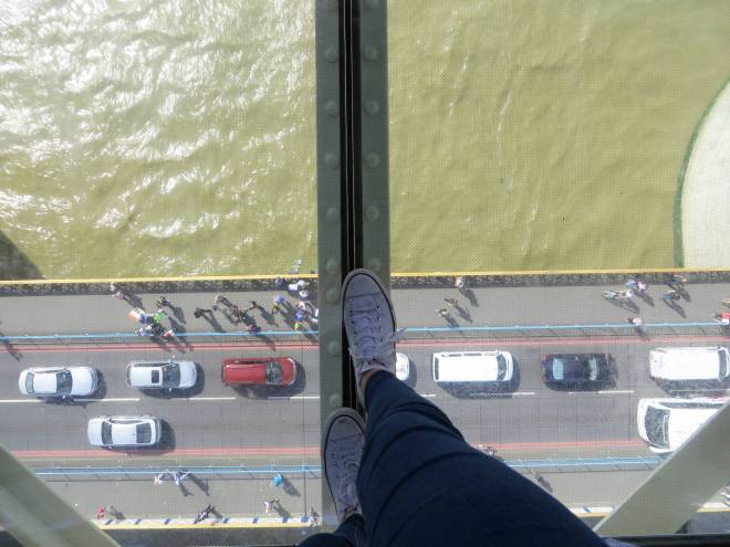 on top of the tower bridge